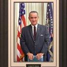 Lyndon B. Johnson Portrait 16x20 Photo Framed