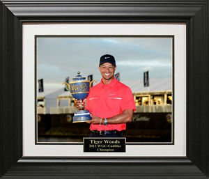 Tiger Woods Wins WGC-Cadillac Championship 11x14 Photo Framed