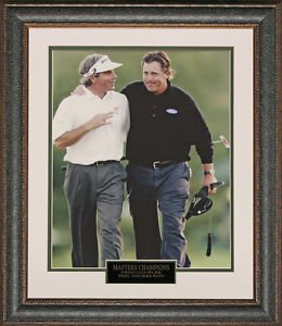 Fred Couples & Phil Mickelson Masters 8x10 Photo Framed.