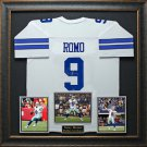 Tony Romo Signed Dallas Cowboys Jersey Framed Display.