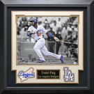 Yasiel Puig Signed Los Angeles Dodgers Photo Display