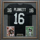 Jim Plunkett Signed Jersey Framed