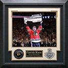 Patrick Kane Signed Chicago Blackhawks Puck Collage Display.
