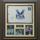 Rory McIlroy Signed 2014 PGA Championship Flag Display.