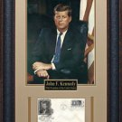 John F Kennedy Commemorative First Day Cover Framed