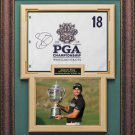 Jason Day Signed 2015 PGA Championship Flag Collage Display.