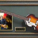 Paul McCartney Engraved Replica Autographed Framed Hofner Display.