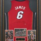 LeBron James Signed Miami Heat Red Jersey