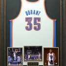 Kevin Durant Signed Jersey with MVP Inscription Display LE of 135.