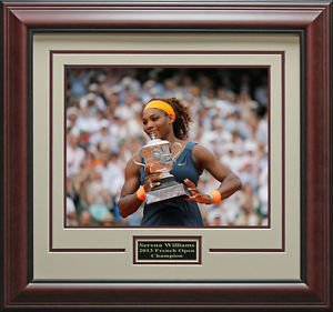 Serena Williams Wins French Open Champion Framed Photo
