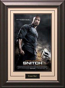 Snitch Movie Poster Framed
