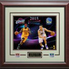 Cavaliers VS Warriors 2015 NBA Finals Photo Collage Display.