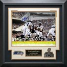 Marshawn Lynch Signed Seattle Seahawks Photo Display.