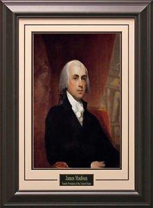 James Madison Portrait 11x14 Photo Framed