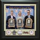Atlanta Braves Signed 2014 Hall of Fame Class Baseball Display.