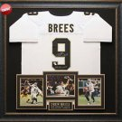 Drew Brees Autographed New Orleans Saints White Jersey framed