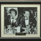Frank Sinatra & Dean Martin Drinking Photo Framed Replica Signatures