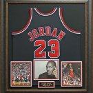 Michael Jordan Autographed UDA Hall of Fame Jersey Framed