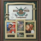 Caddyshack Chevy Chase, Michael O'Keefe, & Cindy Morgan Signed Flag Display.