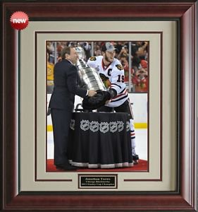 Jonathan Toews 2013 Stanley Cup Champion Framed Photo