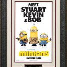 The Minions Mini Movie Poster Framed Display.