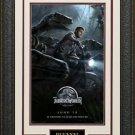 Jurrassic World Mini Movie Poster Framed Display.