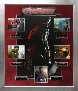 Avengers Signed Movie Collage Display Limited Edition 1 of 1