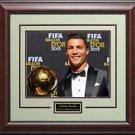 Cristiano Ronaldo 2013 FIFA Ballon d'or Photo Framed