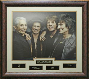 Rolling Stones Replica Signature Framed Photo