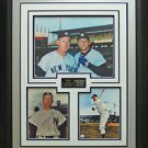 Mickey Mantle And Whitey Ford Signed Photo Framed