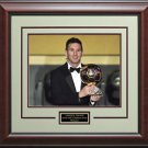 Lionel Messi 2015 Ballon d'Or Winner Trophy 11x14 Photo Framed.