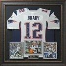 Tom Brady Signed New England Patriots Home Jersey Display.
