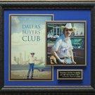 Matthew McConaughey Dallas Buyers Club Signed Photo Framed
