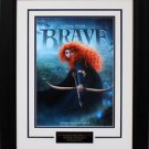 """The Pixar Studios Movie """"Brave"""" Mini Poster matted and Framed"""
