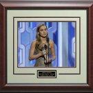 "Brie Larson 2016 Golden Globe Best Actress For ""Room"" 11x14 Photo Framed."