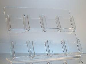 8 pocket vertical orientation business card display holder stand colourmoves
