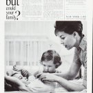 """1963 New York Life Insurance Company Ad """"""""could your family"""""""""""