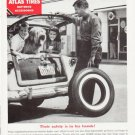 """1957 Atlas Tires Ad """"""""Their safety"""""""""""