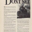 "1937 Association of American Railroads Ad ""BRAKES!"""