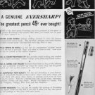 "1937 EVERSHARP ""RED SPOT PENCIL"" Advertisement"