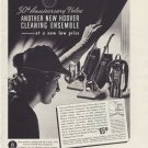 "1937 HOOVER CLEANING ENSEMBLE ""30TH ANNIVERSARY"" Ad"
