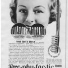 1937 PRO-PHY-LAC-TIC TOOTH BRUSH Advertisement