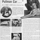 "1937 PULLMAN COMPANY TRAIN CARS ""HEAP O' LIVIN'"" Advertisement"