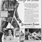 """1937 SEAGRAM'S CROWN """"KEEP IN TRIM"""" Advertisement"""