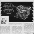 "1937 UNDERWOOD TYPEWRITER ""CHAMPIONS"" Advertisement"