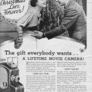 "1937 Univex Movie Camera ""Make Christmas"" Advertisement"