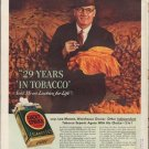 """1938 LUCKY STRIKE CIGARETTES """"LEE MOORE"""" Advertisement"""
