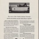 """1959 CAPITAL AIRLINES Ad """"VICTORY OVER VIBRATION"""""""