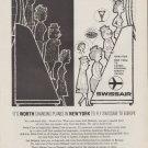 "1959 SWISSAIR advertisement ""IT'S WORTH CHANGING PLANES"""