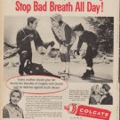 "1960 COLGATE DENTAL CREAM ""FIGHT TOOTH DECAY"" Ad"